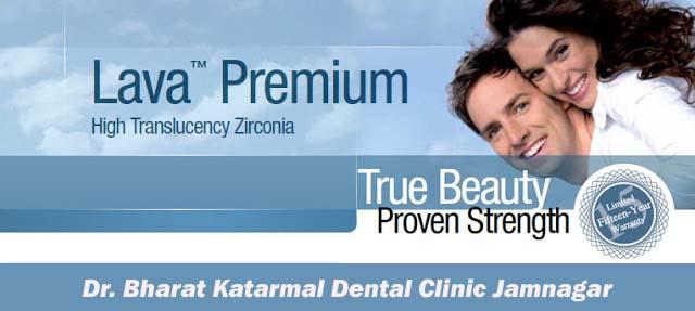 3M Lava Premium dental crown at Dr. Bharat Katarmal Dental Clinic Jamnagar