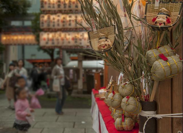 Bettara Ichi (the food festival with Ebisu Shrine) at Nihonbashi, Tokyo
