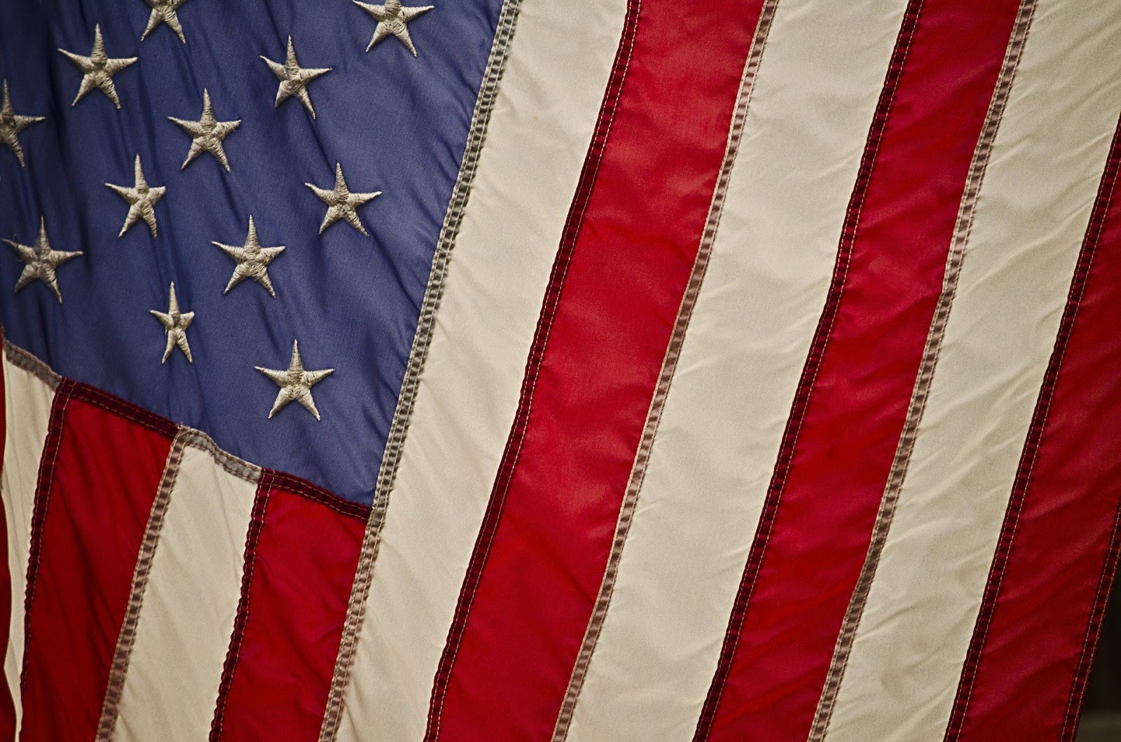 close up of an american flag for blog post about movie citizen soldier