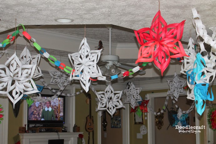 Doodlecraft Deck The Halls With Paper 3d Snowflakes And Paper Chains