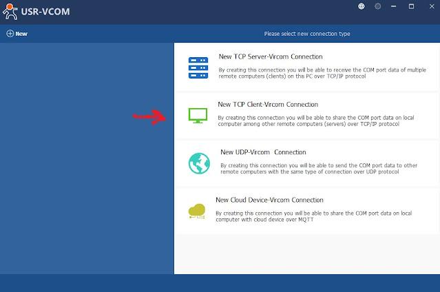 Настройка виртуального COM порта USR-TCP232-304