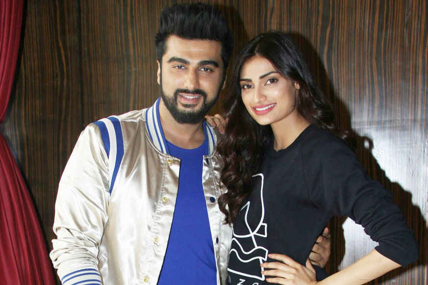 Arjun Kapoor and Athiya Shetty at Novotel Hotel In Juhu