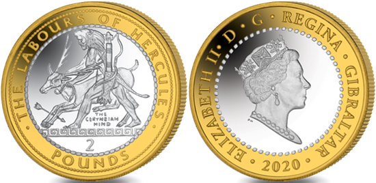Gibraltar 2 pounds 2020 - The Ceryneian Hind