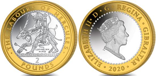 Gibraltar 2 pounds 2020 - The Ceryneian Hind