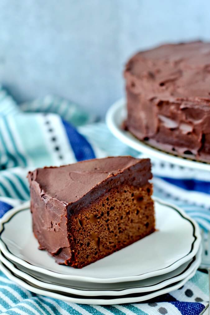 Malted Chocolate Cake with Bailey's Irish Cream Ganache slice