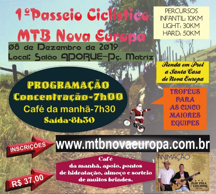 1º Passeio Ciclístico MTB Nova Europa