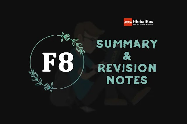 F8 (AA)   Summary + Revision Notes   Audit and Assurance   ACCA