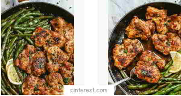lemon garlic butter chicken green beans