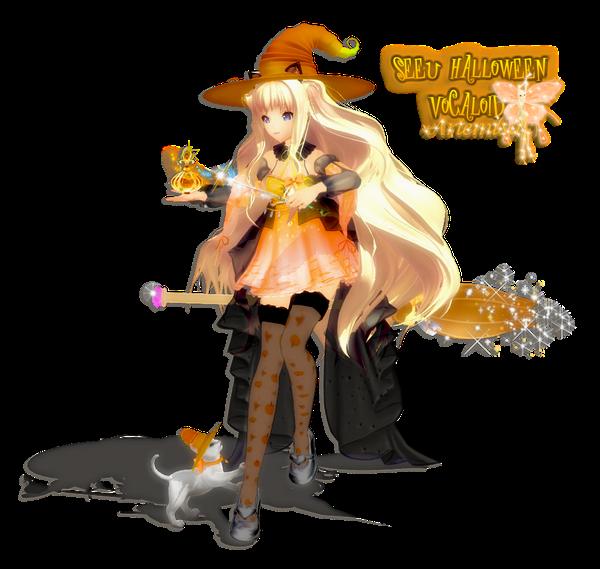 Render Halloween Vocaloid BY  Dargay