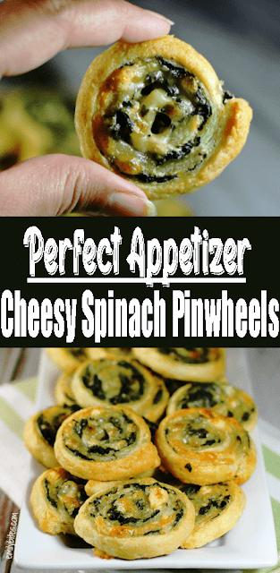 #Cheesy #Spinach Pinwheels