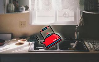 熱水清水管,廚房倒熱水