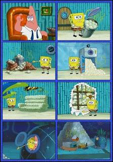 Polosan meme spongebob dan patrick 133 - patrick dan spongebob merawat bayi kerang / punya bayi