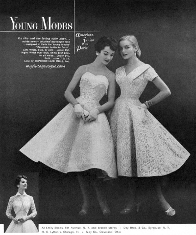 Young Modes 1955 Prom Dresses