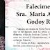 Falecimento da Sra. Maria Antonia de Godoy Ribeiro