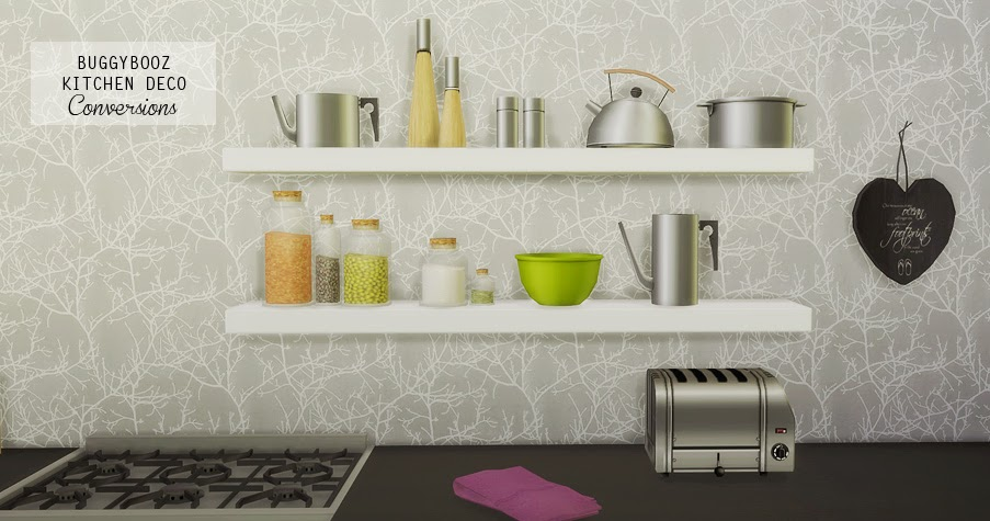 Buggybooz kitchen deco conversions mio sims - Mh deco ...