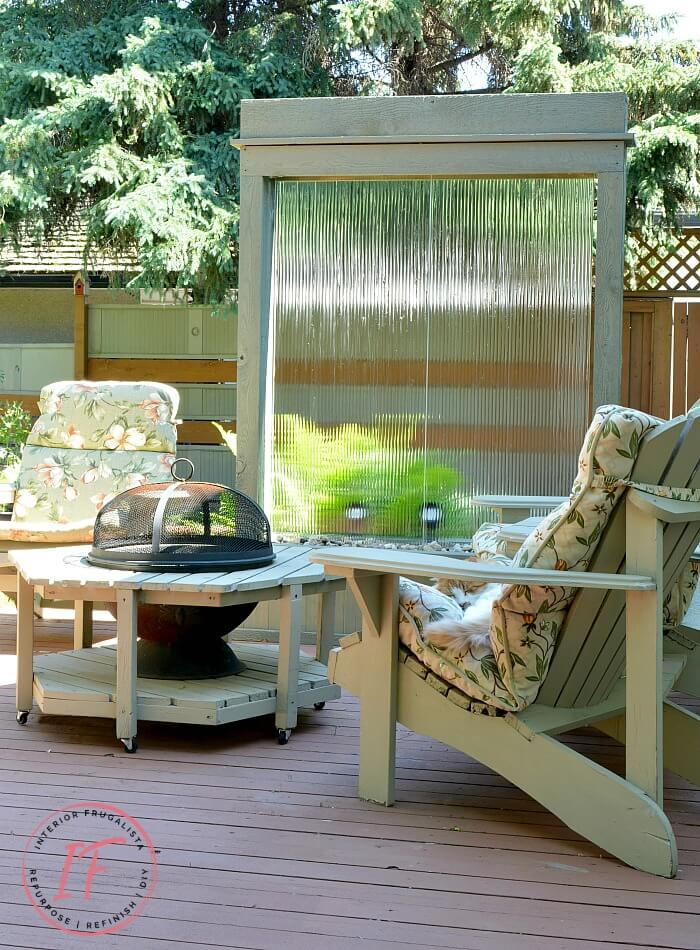 DIY Water Wall Deck Privacy Screen