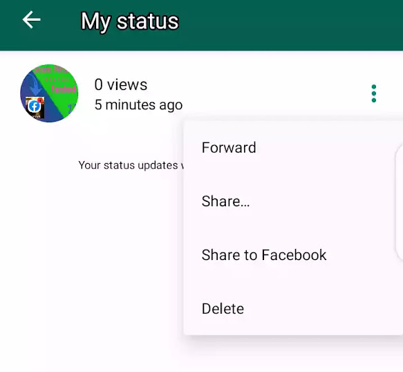 Facebook stories directly from whatsapp status