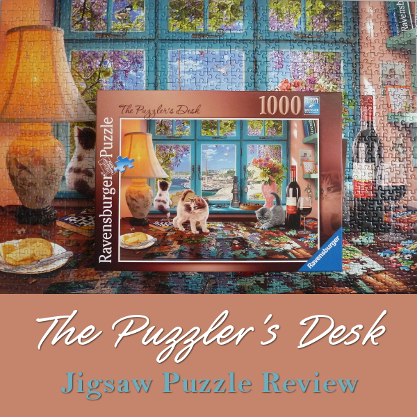 Ravensburger The Puzzler's Desk 1000pc Jigsaw Puzzle Review Steve Read Cats Kittens Jigsaws Puzzles 1000 pieces