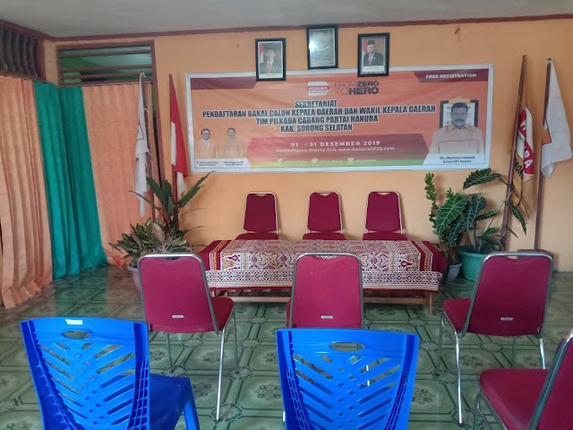 Pendaftaran pasangan calon bupati dan wakil bupati partai Hanura Sorong Selatan  2020