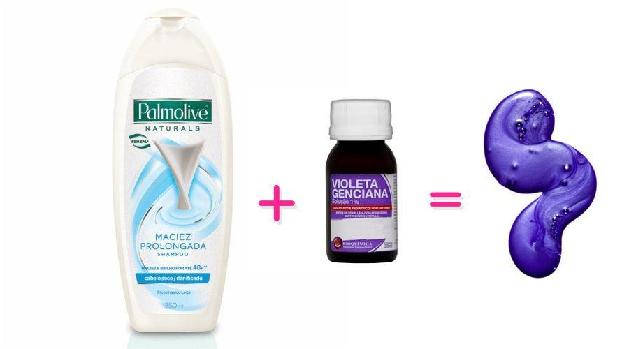 Resultado de imagem para shampoo branco e violeta genciana