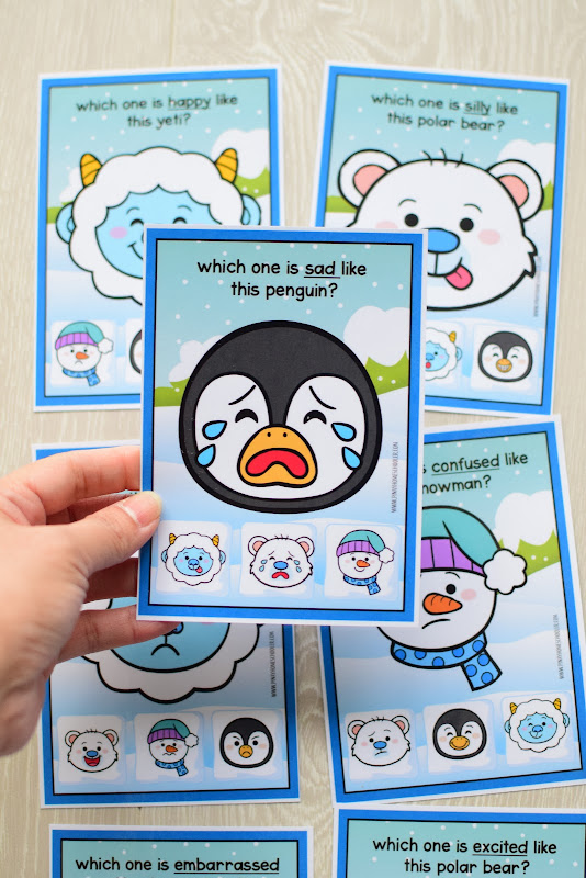 Winter Theme Learning Pack: Matching Faces and Emotions