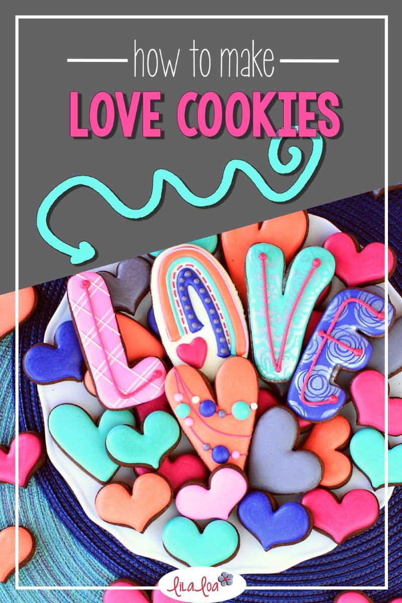 Valentine's Day decorated sugar cookie tutorial