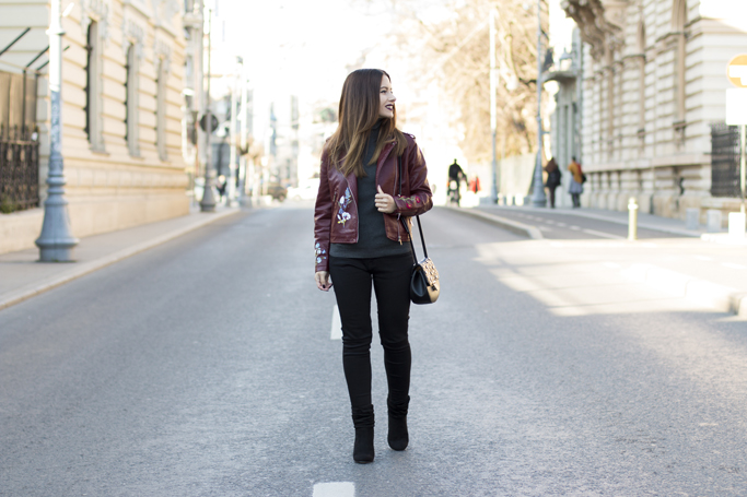 adina nanes burgundy leather jacket