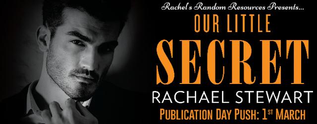 Our Little Secret by Rachael Stewart blog tour publication day push banner