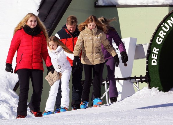 King Willem-Alexander, Queen Maxima, Princess Catharina-Amalia, Princess Alexia and Princess Ariane attended the annual winter photo session