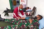 Zidam berpartisipasi gelar Bakti Sosial Donor Darah di Markas Kumdam