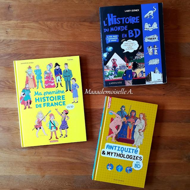 Sélection de BD sur l'Histoire (Présentation & Avis) : L'Histoire du monde en BD, Ma première histoire de France en BD, Antiquité et mythologies en BD