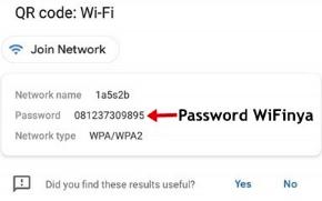 Cara melihat password wifi di hp sendiri melalui qr code