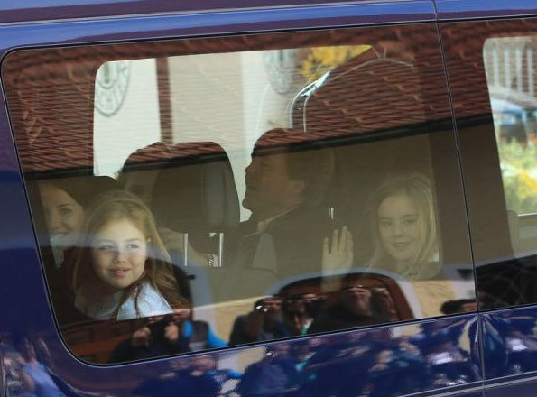 King Willem-Alexander, Queen Maxima and their daughters Crown Princess Catharina-Amalia, Princess Alexia and Princess Ariane, Princess Beatrix on holiday in Salzburg