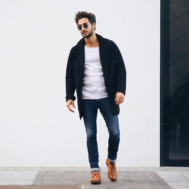 T-shirt Fashion For Men With Blazer