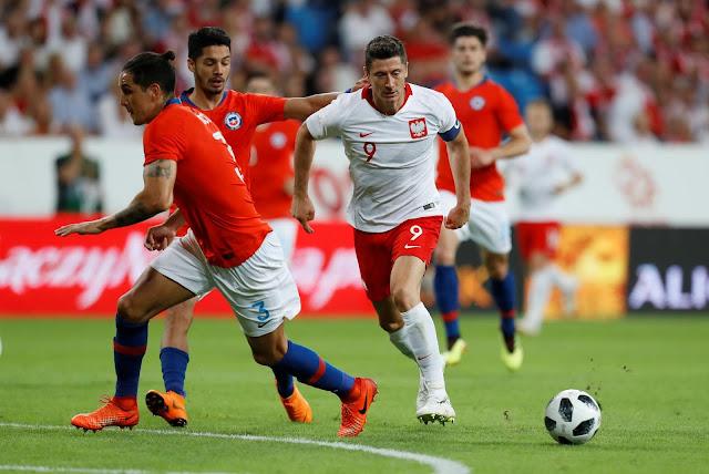 Polonia y Chile en partido amistoso, 8 de junio de 2018