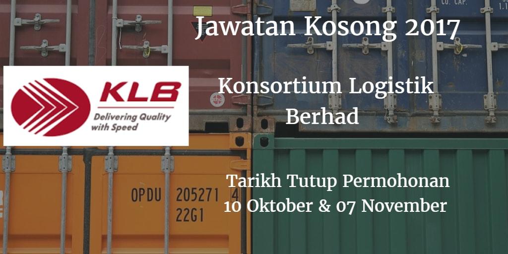 Jawatan Kosong KLB 10 Oktober & 07 November 2017
