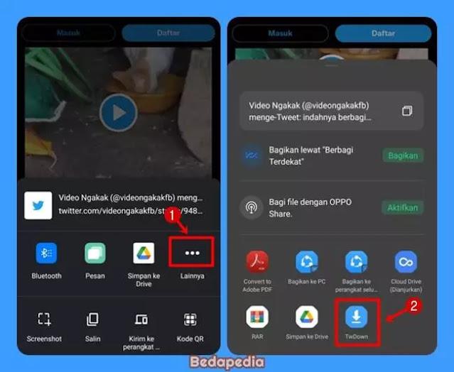 Aplikasi unduh Video Twitter - TwDown.1