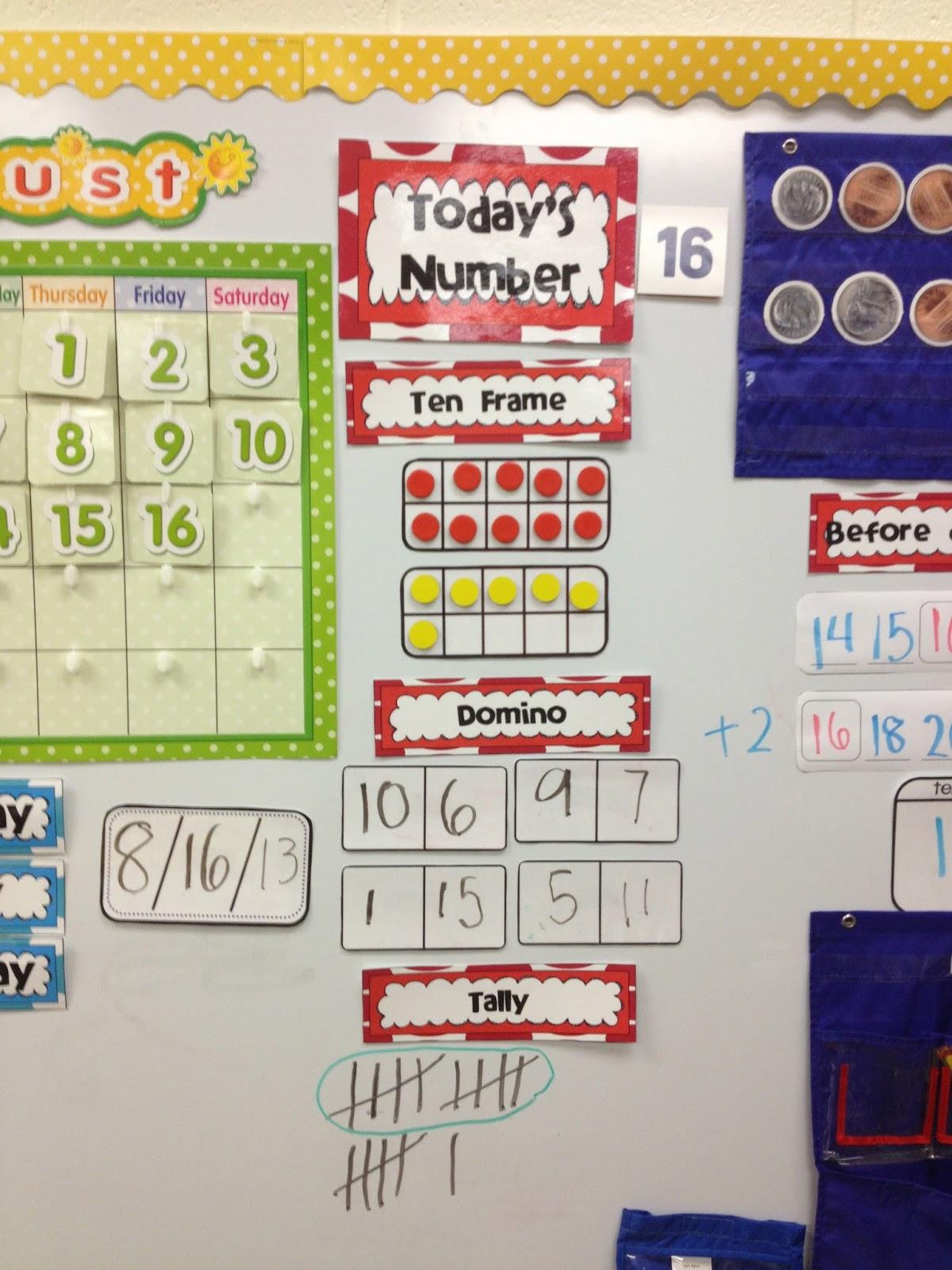 Kroger S Kindergarten Today S Number Calendar Routine