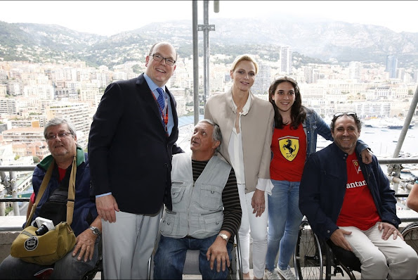 Prince Albert and Princess Charlene visited an association for people affected by traffic accidents on May 23, 2015 in Monte Carlo, Monaco