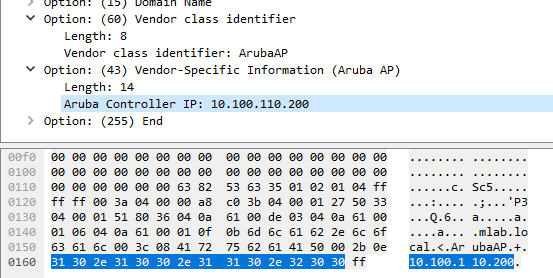 ThinGs-on-E: pfSense DHCP option 43 for Aruba Networks