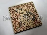 Este socarrat original puede llevar decoración con flores o palmetas, en hierro o en cobre. Socarrat Artesanía