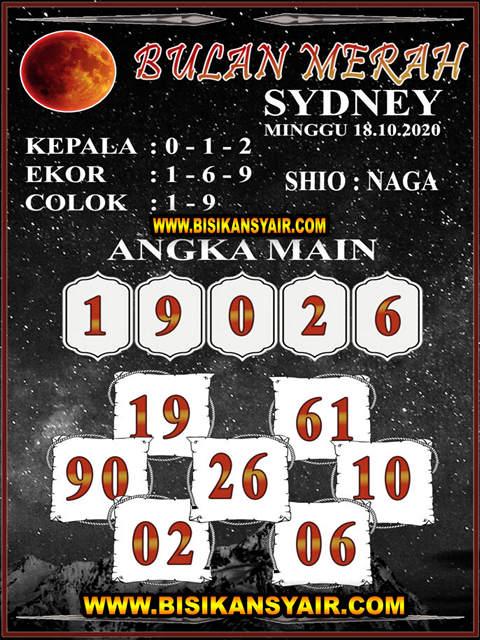 Kode syair Sydney Minggu 18 Oktober 2020 124
