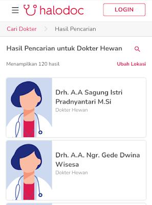 konsultasi dokter hewan secara online di halodoc