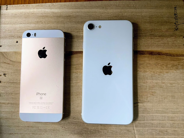 iPhoneSE(初代)とiPhoneSE2のサイズ比較