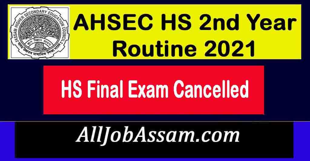 HS Final Exam Cancelled
