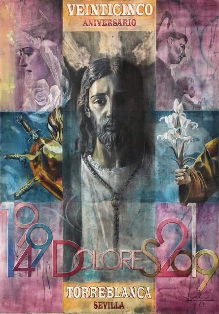 Cartel del 25 aniversario de Torreblanca