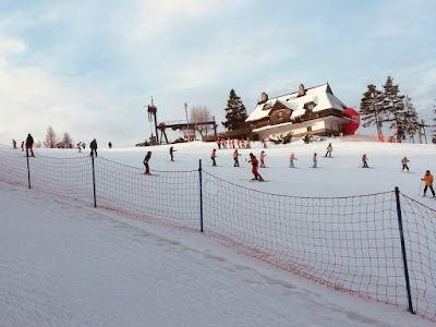Szkoła narciarska i snowboardowa Czorsztyn Ski, góra Wdżar, trasa niebieska nr 2