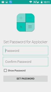 Set password for app locker