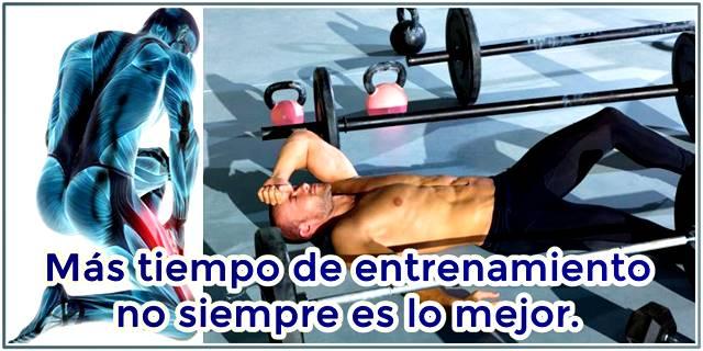 Más tiempo entrenando puede causar más fatiga muscular