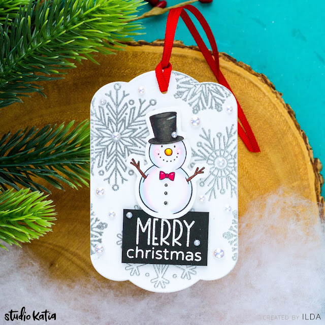 Card Making, Stamping, Die Cutting, handmade tag, ilovedoingallthingscrafty, Stamps, how to,  Tag, Christmas, Gift Card Holder Tag, 25 Days of Christmas Tags 2020, Studio Katia